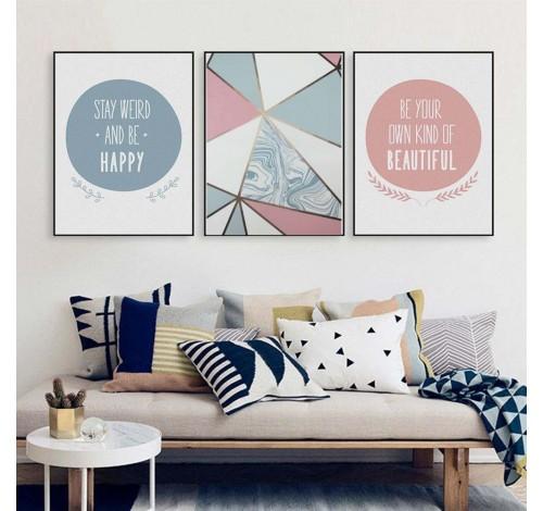 Tablou decorativ imprimat pe plus, Dekoratex, Multicolor,...
