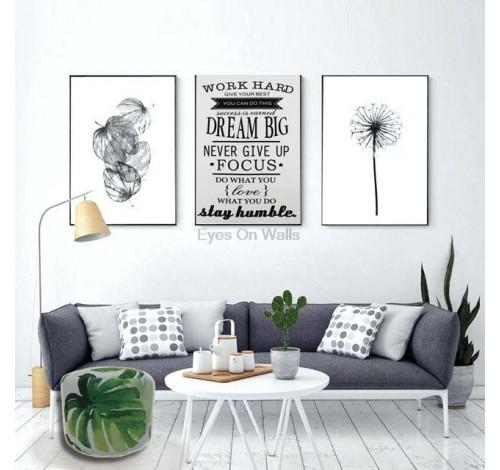 Tablou decorativ imprimat pe plus MAGIC QUOTES, 50 x 70 cm