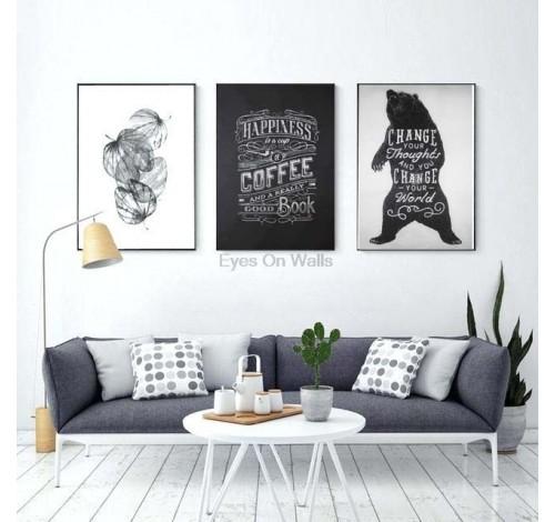 Tablou decorativ imprimat pe plus MAGIC QUOTES, Coffee...