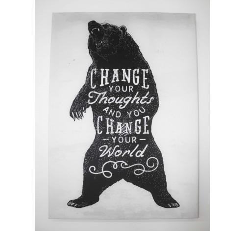 Tablou decorativ imprimat pe plus, MAGIC QUOTES, Brave...
