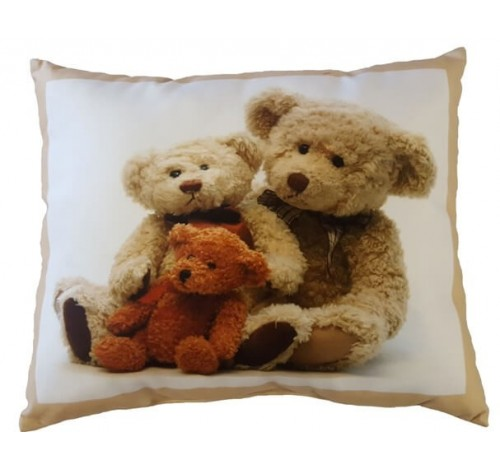 Perna decorativa din plus cu imagine Teddy Family, 40x50 cm