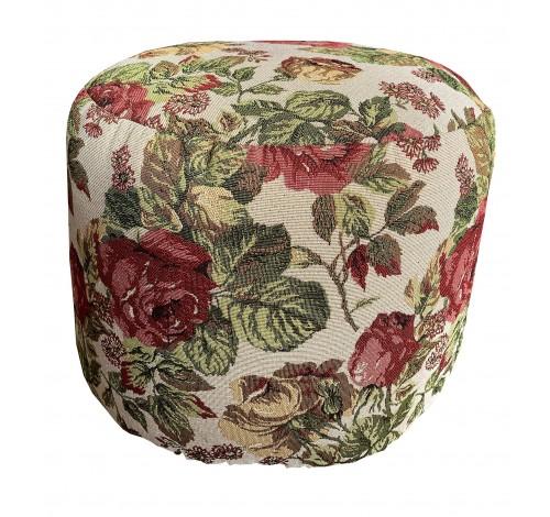 Taburet Dekoratex, 35 x 45 cm, tesatura Rozalinda, Roses