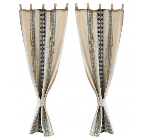 Draperie Liana, gri, 60 cm x 150 cm, motive Etno, 100%...