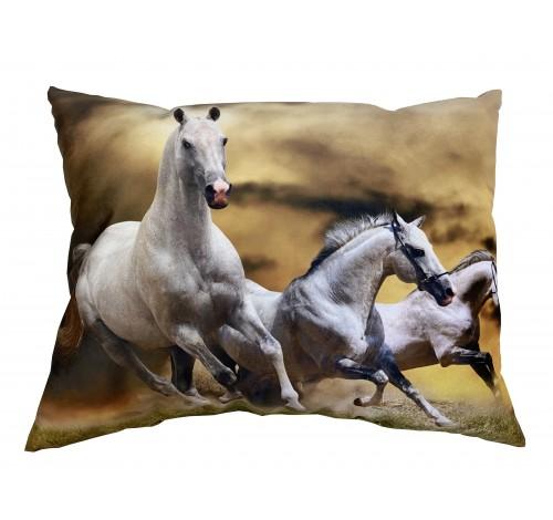 Perna decorativa cu doua fete, Horse life, imprimat,...